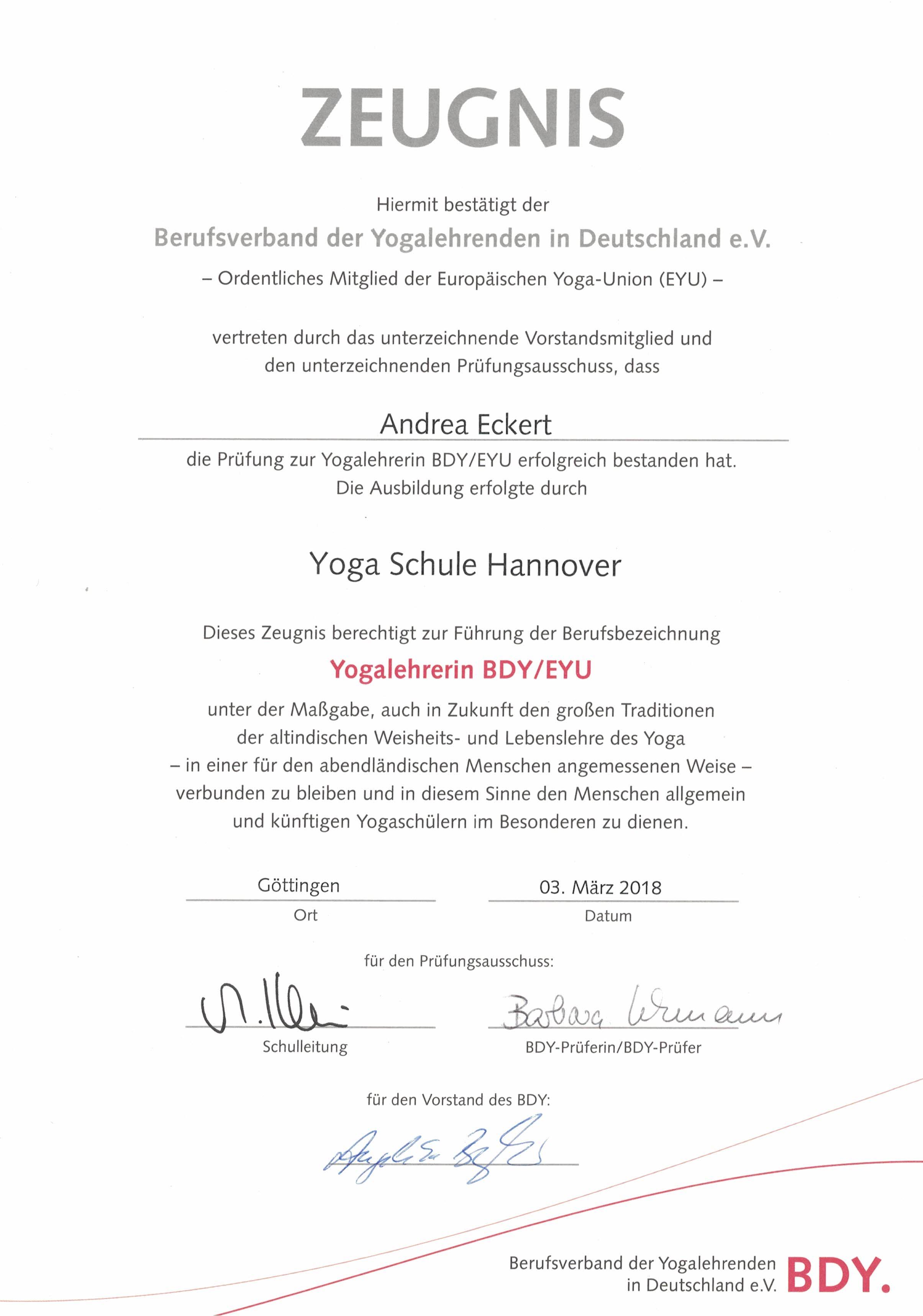 Yoga Nach Mass Yoga Rodenberg Andrea Eckert